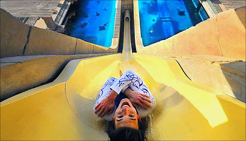 The Leap of Faith at Aquaventure,Atlantis The Palm.