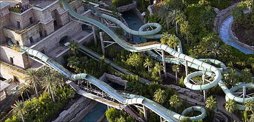 Water Slides at Aquaventure,Atlantis The Palm.