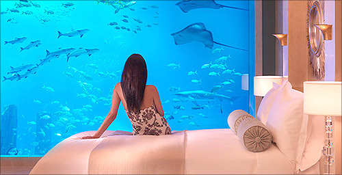 Neptune and Poseidon Underwater Suites, Atlantis The Palm, Dubai.
