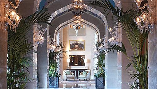 Bedroom in the Royal Bridge Suite, Atlantis The Palm, Dubai.