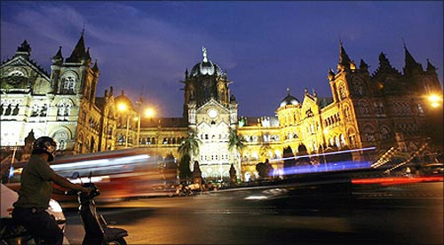 Chhatrapati Shivaji Terminus railway station.
