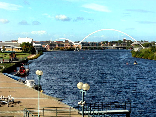 Infinity Bridge, Stockton on Tees, England.