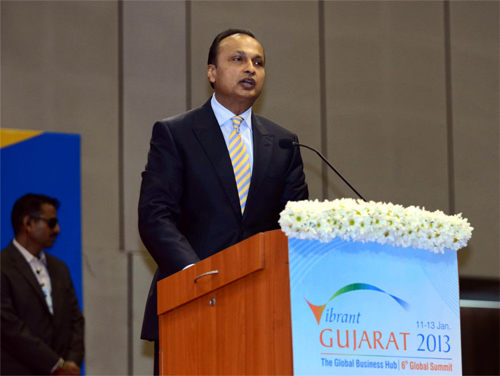 Anil Ambani at the Vibrant Gujarat Summit.