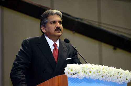 Anand Mahindra at the at the Vibrant Gujarat Summit.