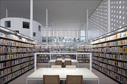 Kanazawa Umimirai Library.