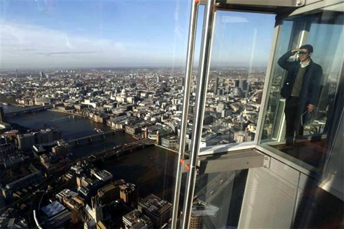 Stunning views from London's new skyscraper