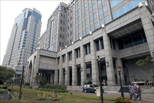 A view of Indonesia's Central Bank building in Jakarta.