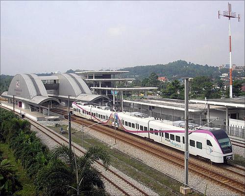 Bandar Tasik Selatan station (KLIA Transit), Klang Valley, Malaysia.