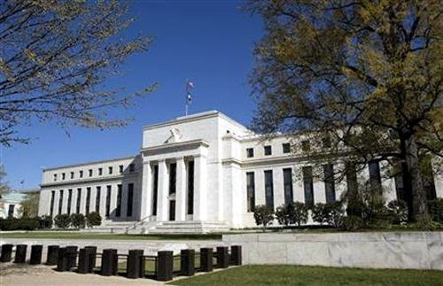 The Federal Reserve Building stands in Washington.