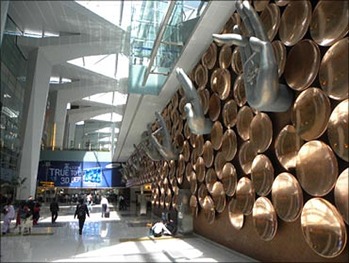 New Delhi International Airport.