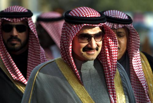 Saudi Prince Alwaleed bin Talal bin Abdul Aziz Alsaud.