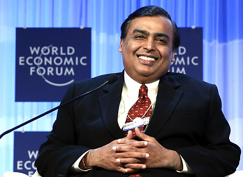 Chairman and Managing Director of Reliance Industries Mukesh Ambani.