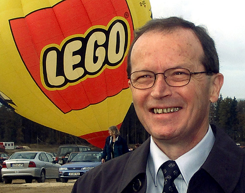 Kjeld Kirk Kristiansen, owner and CEO of the Denmark-based plastic toy company LEGO.