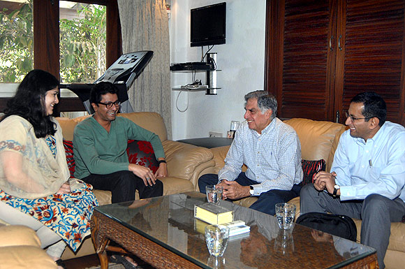Ratan Tata meets Raj Thackeray