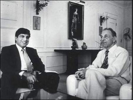 Ratan Tata with  JRD Tata.