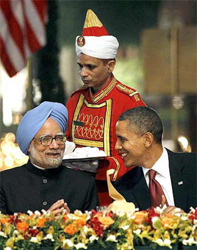 Indian Prime Minister Manmohan Singh with US President Barack Obama.