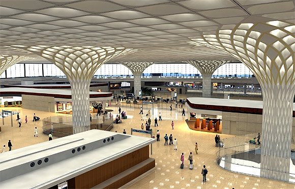 Terminal 2 at the Chhatrapati Shivaji International Airport, Mumbai.