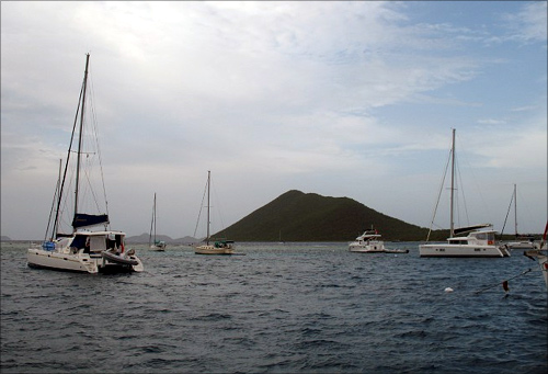 Sailboats in the British Virgin Islands.