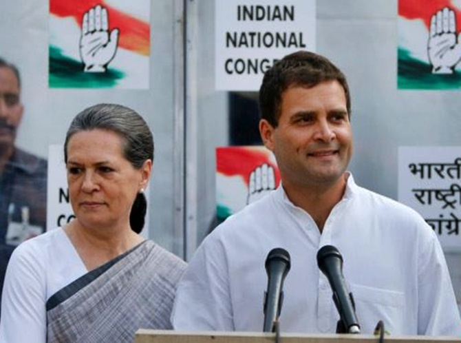 Rahul Gandhi with Sonia Gandhi.