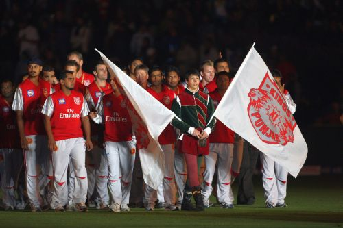 File picture of the Kings XI Punjab squad entering the field during the opening ceremony during IPL 2009