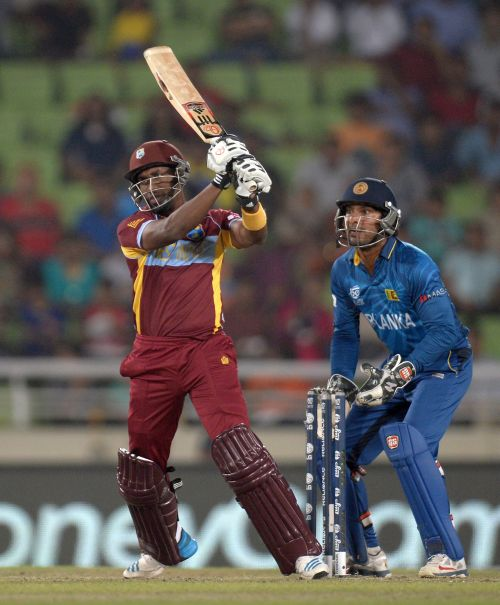 Dwayne Bravo hits one out of the park