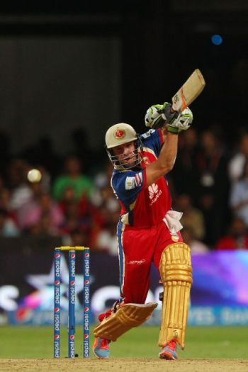 AB de Villiers during his hurricane knock against Sunrisers Hyderabad