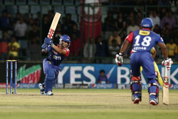 JP Duminy drives one through the off-side