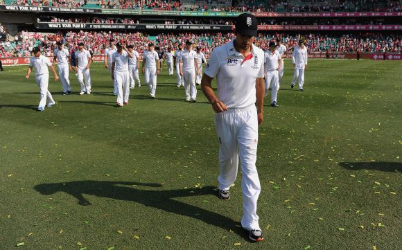 Alastair Cook, the English captain.