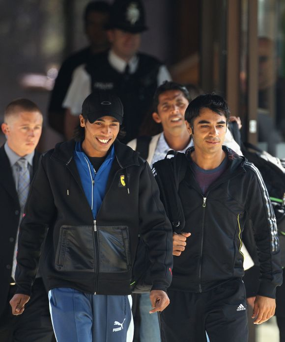 Salman Butt, Mohammad Aamir and Mohammad Asif, who were jailed in Britain for match-fixing.