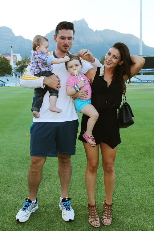 Graeme Smith with his wife and kids