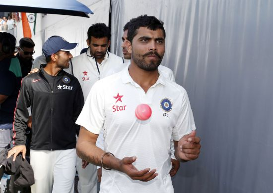 Indian players walk out after the first Test