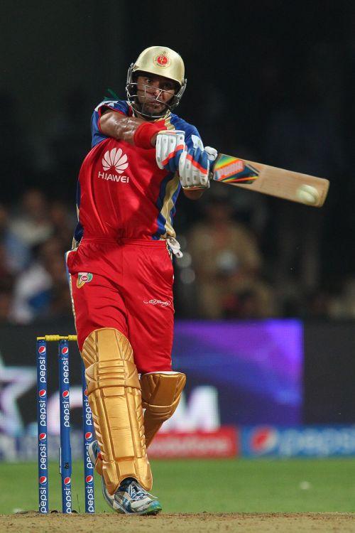 Yuvraj Singh hits a six