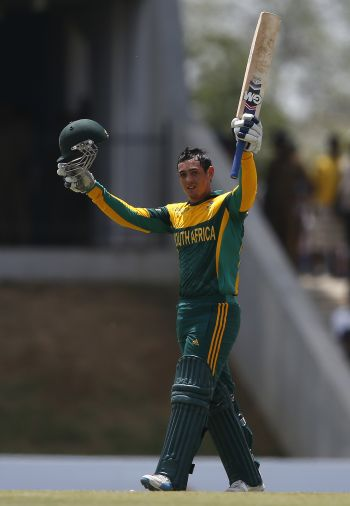 Rediff Cricket - Indian cricket - De Kock, De Villiers centuries steer South Africa to series win