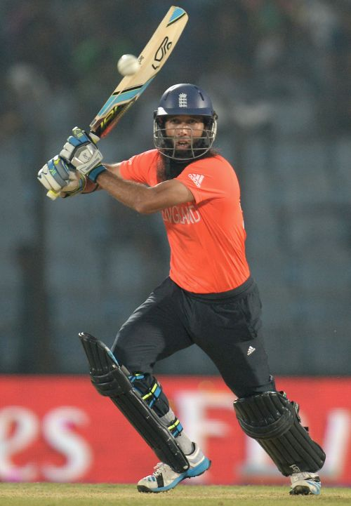Moeen Ali of England bats during the ICC World Twenty20 Bangladesh 2014 group 1 match between England and New Zealand at Zahur Ahmed Chowdhury Stadium