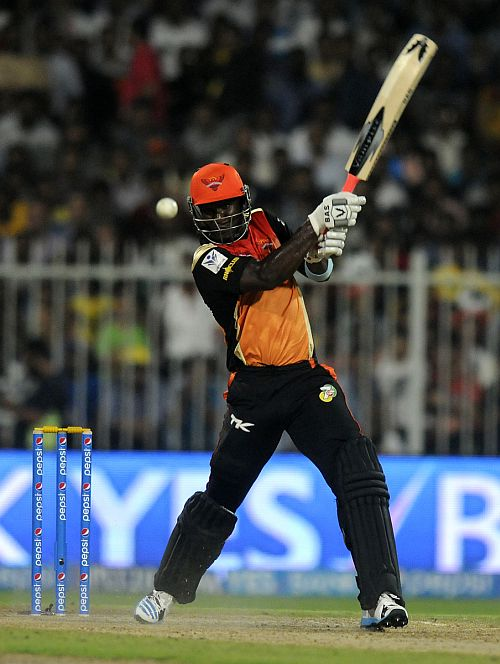Darren Sammy hits a six