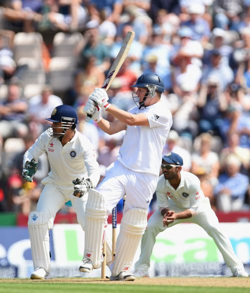 Gary Ballance plays a shot through the leg side