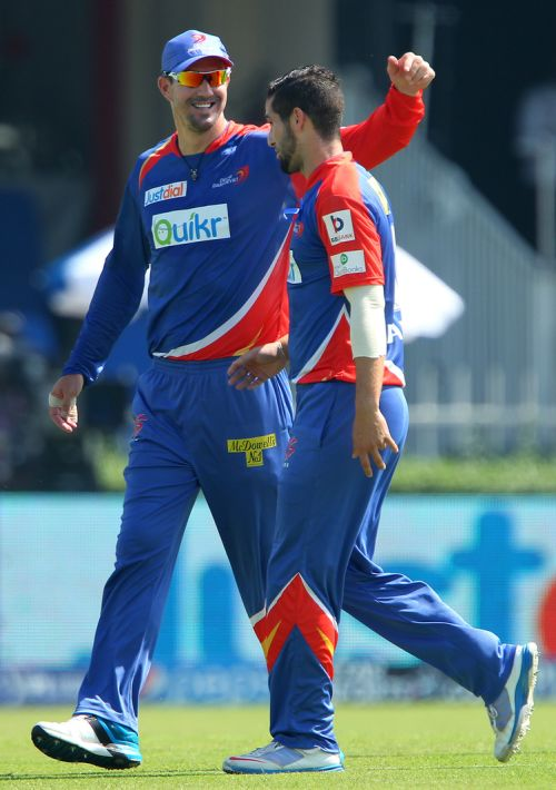 Kevin Pietersen and Wayne Parnell