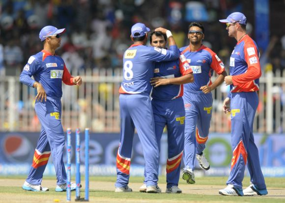 Mohammad Shami celebrates after a wicket