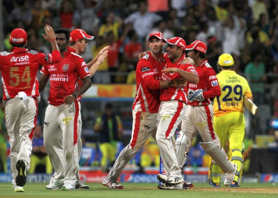 Kings XI players celebrate