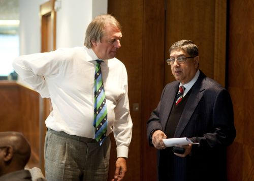 Giles Clarke and N Srinivasan