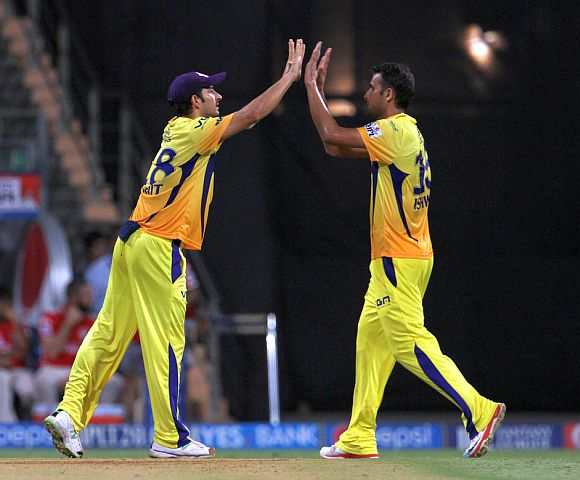 Ishwar Pandey celebrates after dismissing Manan Vohra.