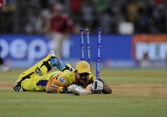 Suresh Raina is run out