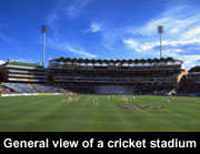 General view of a cricket stadium