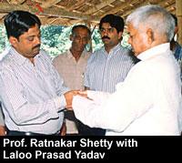 Prof. Ratnakar Shetty with Laloo Prasad Yadav