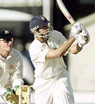 V V S Laxman on his way to 167