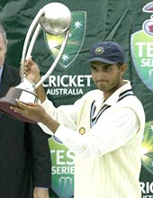 Sourav Ganguly with the trophy