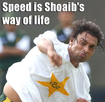 Speed is Shoaib's way of life
