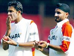 Kumble and Harbhajan Singh