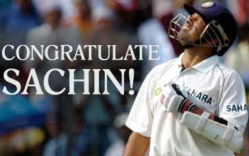 Congratulate Sachin!