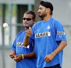 Ramesh Powar and Harbhajan Singh